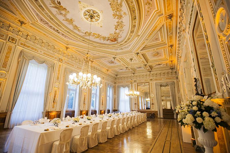 sophisticated elegance in villa serbelloni women in